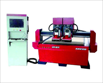 Independent double heads servo motor vaccum CNC wood router