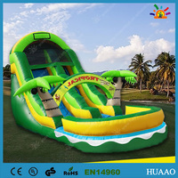 hot commercial funny used inflatable water slide for sale