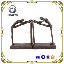 Metal Cast Iron Women Dancing Statues Bookend For Home Decoration
