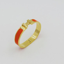 Enamel stainless steel rose gold wristband cuff bangle bracelet gold plating indian gold bracelet designs