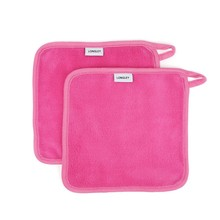 Hot sale free sample square microfiber makeup remover towel with hanger makeup remover towel