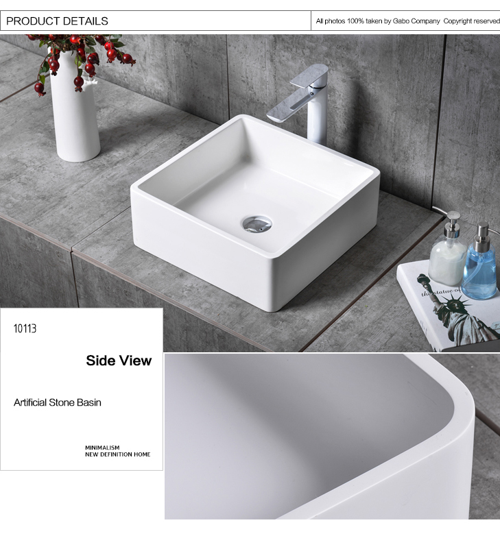 Modern Stone Black And White Bathroom Sink Wholesale