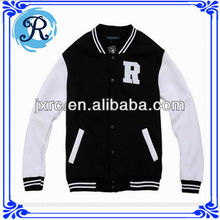 Custom fleece fitted baseball cotton varsity jacket wholesale china manufacture hoody