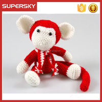 K790 baby monky doll hand knit designs stuff toy patterns hand knit crochet amigurumi