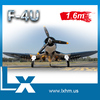 1.6m wingspan large scale rc plane model propeller airplane F4U