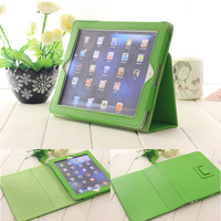 Hot selling universal folding stand Ultra thin leather case for IPad 2