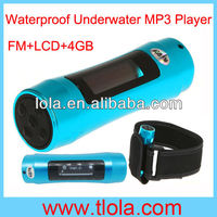 Blue 8GB Waterproof MP3 Player with LCD Screen and FM Radio