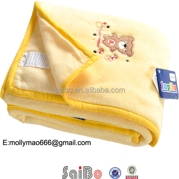 OTEX-100 embroidery baby blankets wholesale