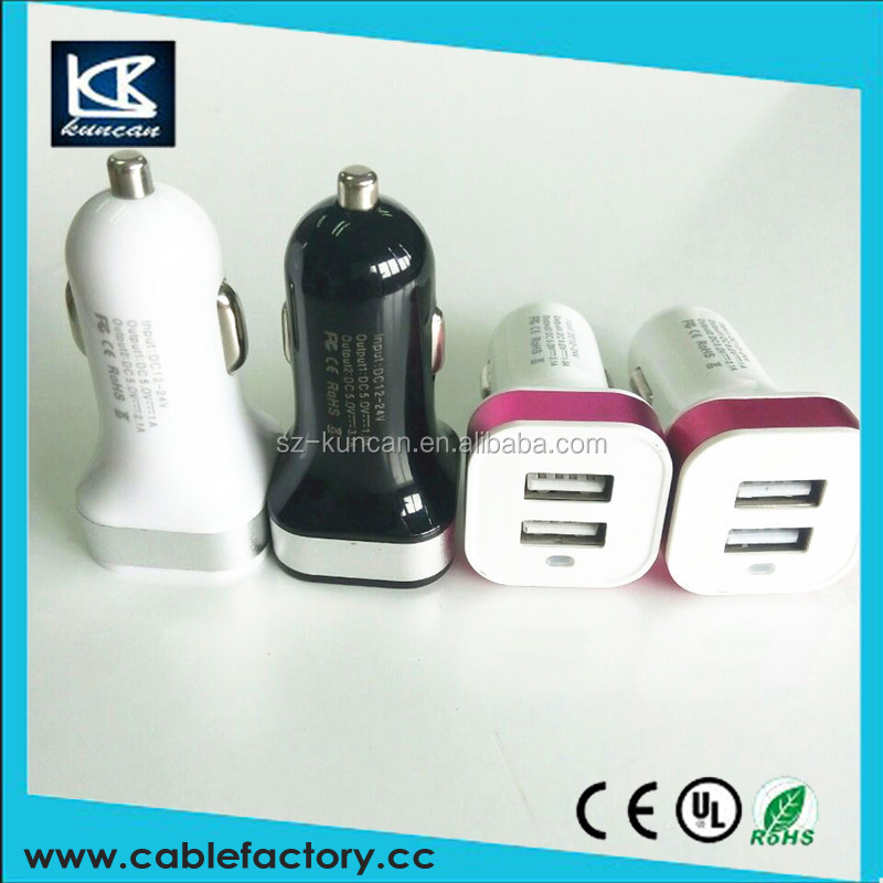 Universal Current Display Dual USB usb car charger 4 port DC 5V 3.1A/ 1.0A Car Battery Charger