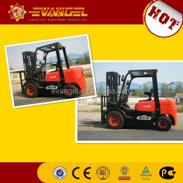 Price of 2ton lifting capacity Wecan diesel forklift CPCD20FR