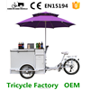 Hot dog cart vending tricycle electric and pedal options factory price