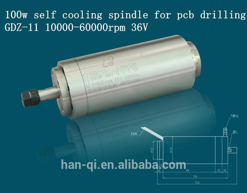 100w pcb drilling high speed spindle for multi head machine