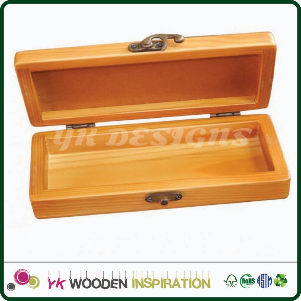 Wood box for pen with hinge for Promotion Logo Advertising Pen