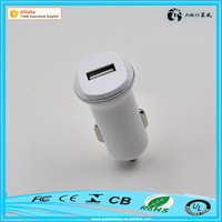 Promotional OEM logo Mobile phone and Tablet Use 5V 1A single port car plug charger with led