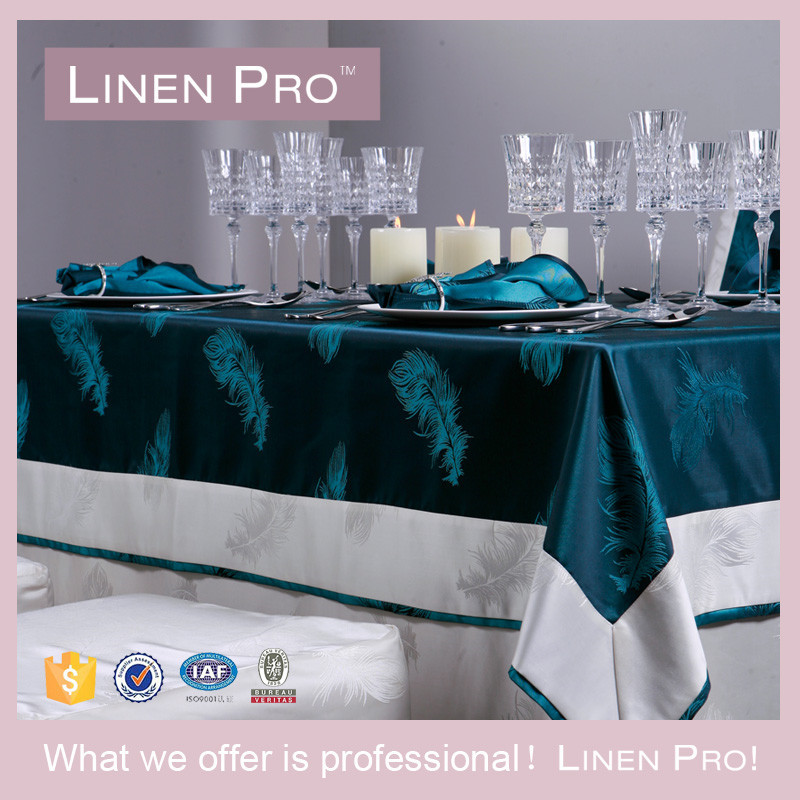LinenPro Rectangular White Table Cloth Christmas Embroidered Tablecloth