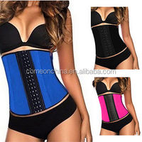 Women Latex cincher Rubber Waist Trainer Cincher Underbust Corset Body Shaper Shapewear
