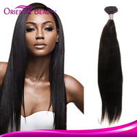 Brazilian Kinky Straight Human Hair Extension Glueless Full Lace Wig Weave in Bulk