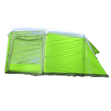 Factory customized east set up inflatable camping family tent with gazebo