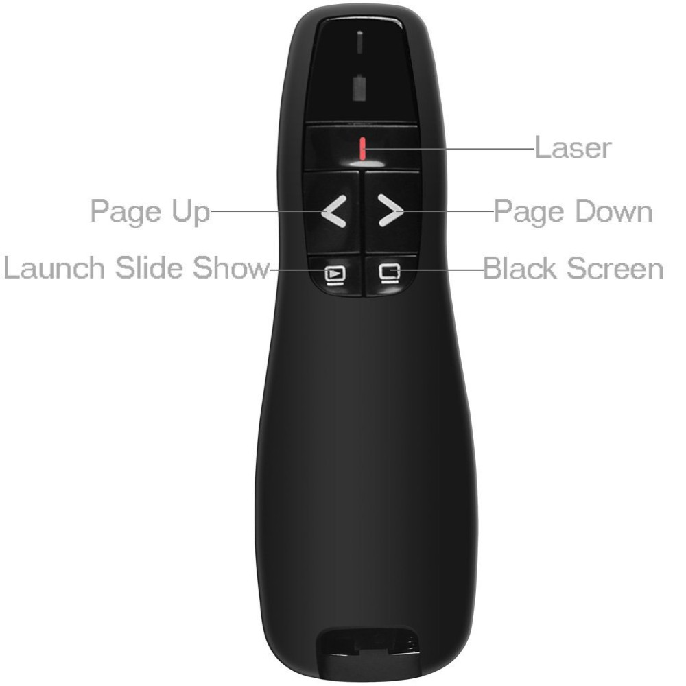 Wireless Presenter R400 Presentation Wireless laser Presenter with Laser Pointer