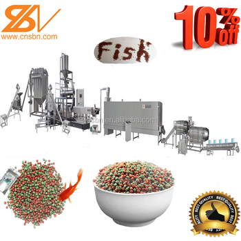 Stainless steel automatic fish feed plant