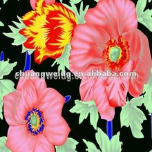 super stretch floral printed satin fabric with flower printing