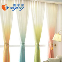 Printed Tulle Curtain Voile Sheer Curtain