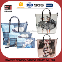 Ladies fashion handbag manufacturer in Guangzhou ladies shoes and bags set 16SH-5472M