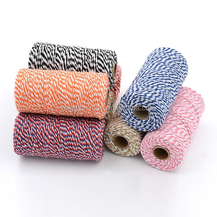 25 colors 3mm cotton bakers twine for decorative