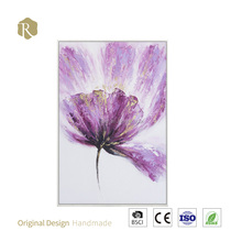 New design chinese handmade big beautiful red flowers oil painting ,Modern wall painting decoration wall stick paper(8127102)