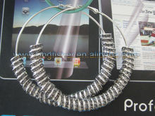 2012 Hottest sales Poparazzi Styles Basketball wives earrings!! Crystal rhinestone rondelle earrings!! 80mm gold hoops!! !!