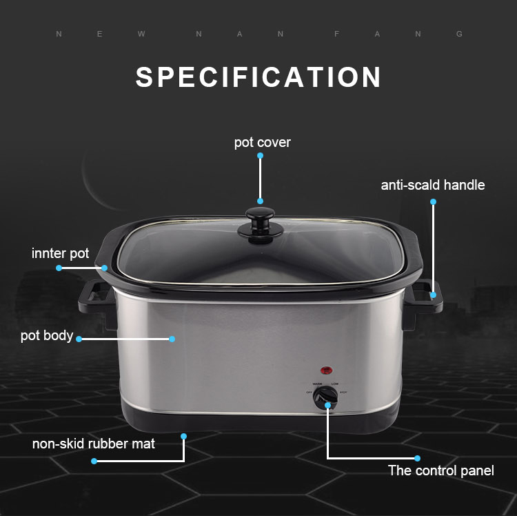 Kitchen Appliances Portable Electric Cooker Energy Saving Slow Cooker