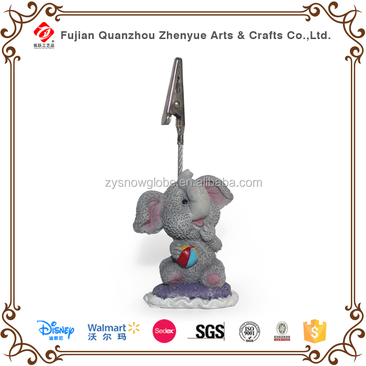 Cute resin grey elephant shaped paper clip