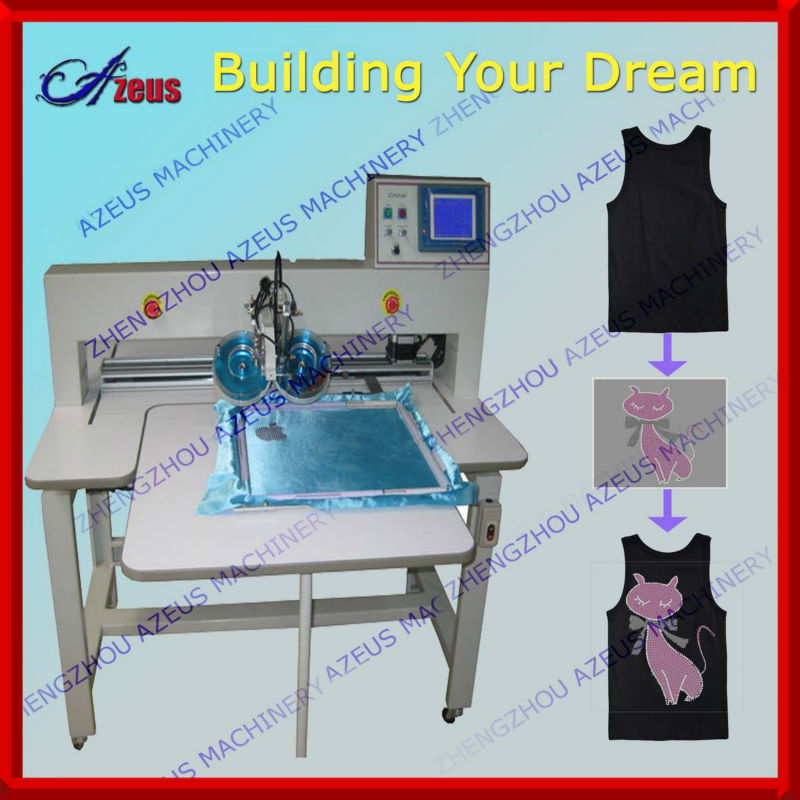 Computerized rhinestone hotfix machine for shoes making industry