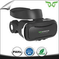 new product 2017 Hot vr headset vr box vr shinecon 4.0 for HD blue movie