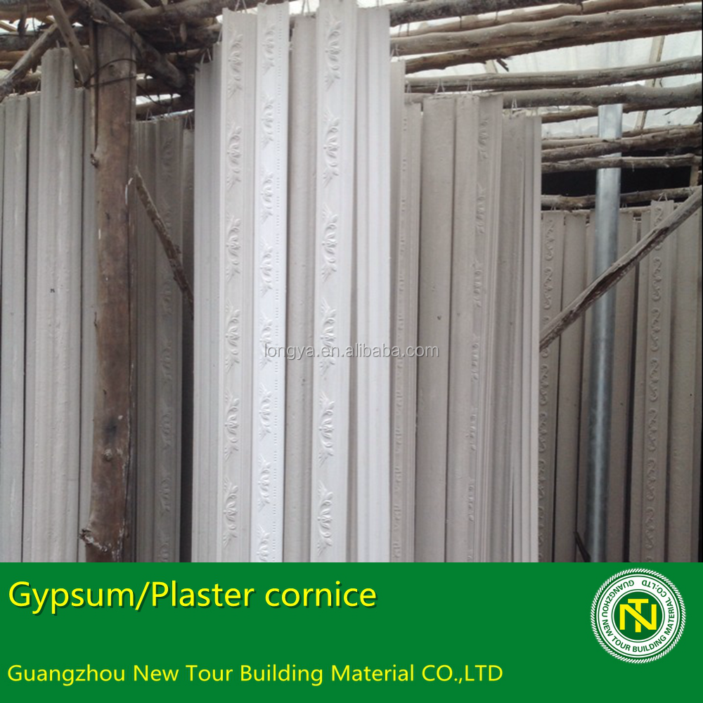 Gypsum Factory Gypsum Cornice Plaster Mouldings Made in Guangzhou China