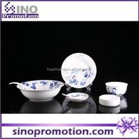 2014 new style fine porcelain dinner set,blue white tableware porcelain bowl set