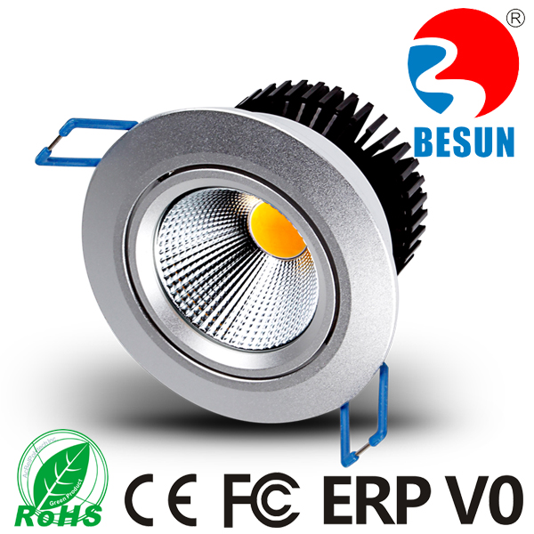 IP44 waterproof outdoor led downlight 570-630lm 80mm cut size 6w led downlight