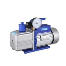 HBS China 12 CFM 2RS-4 two stage oil rotary vane car vacuum pump with gauge HAVC 0.3pa 110V AC 2018 new vacuum pump