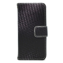 High Quality Carbon Fiber lether cover with Pattern Insert Card,Flip Leather Mobile Phone Case For iPhone5 5SE