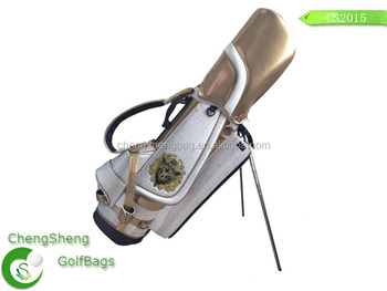 New design PU leather customize golf stand bag