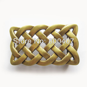 40mm Solid Brass Belt Buckle Celtic Keltic Knot Belt Buckle for Men
