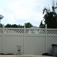 New Design wood plastic decorative garden fence