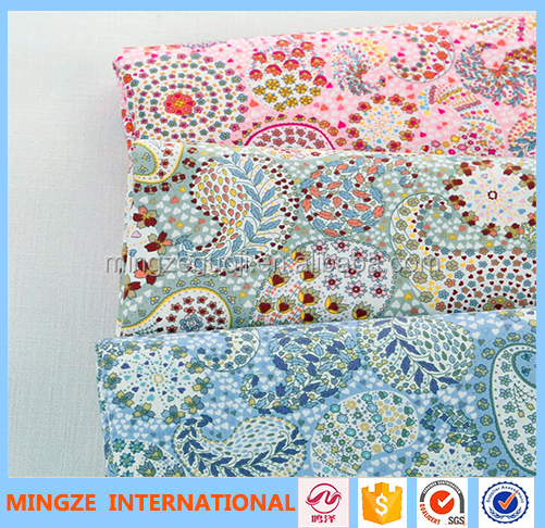 100% cotton beautiful printing fabric for curtain and bedding set fabric