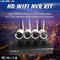 LS VISION CCTV camera supplier 960P 4ch wifi ip security camera system wireless cam for home and office security