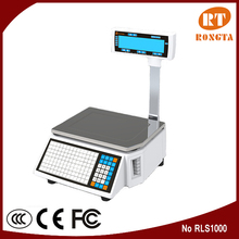 15KG/30KG 10000 PLU electronic pricing thermal label printer scale RLS1000/1100