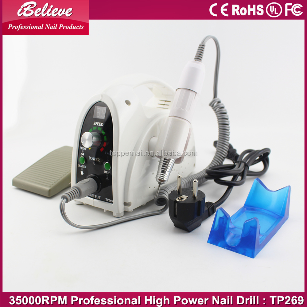 High power Rotary 35000rpm nail drill bit cuticles