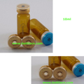 10ml amber glass vials bottle with butyl silicone red stopper and flip off lids