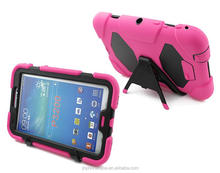 School students using bumper strong rubber case for Galaxy Tab 3 7inch P3200 pouch with detached stand