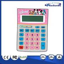 Small Size Desktop Calculator with color keys with cartoons
