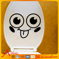 303 Cartoon creative smile face toilet sticker for kids decor toilet decals